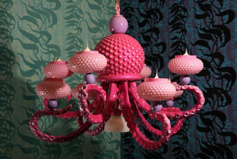 Adam Wallacavage - Octopus Chandelier 4