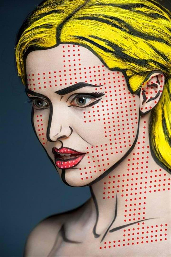 Alexander Khokhlov - pop art makeup