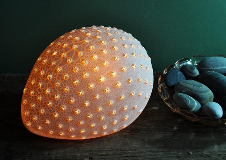 Amy Cooper Ceramics - egg lamp
