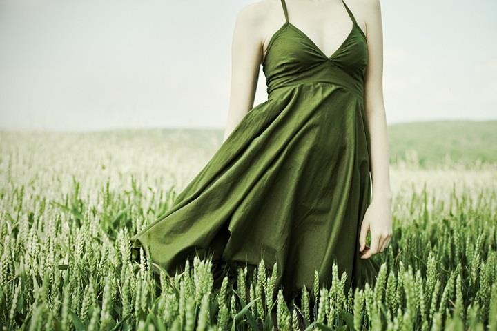 Andrea Hübner - a green dress