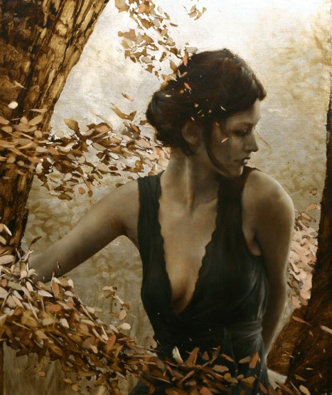 Brad Kunkle - Leaf Paintings 2