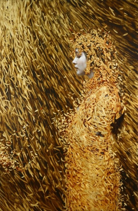 Brad Kunkle - Leaf Paintings 4