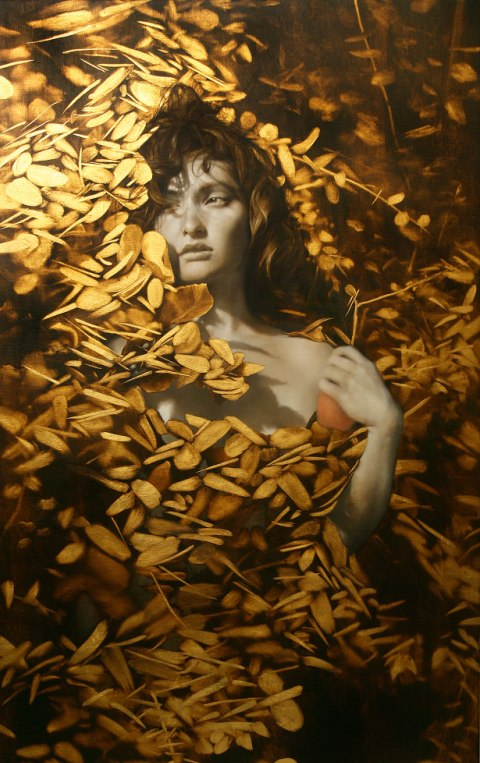 Brad Kunkle - Leaf Paintings 6