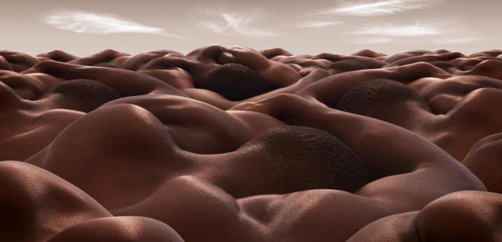 Carl Warner - desert of sleeping men