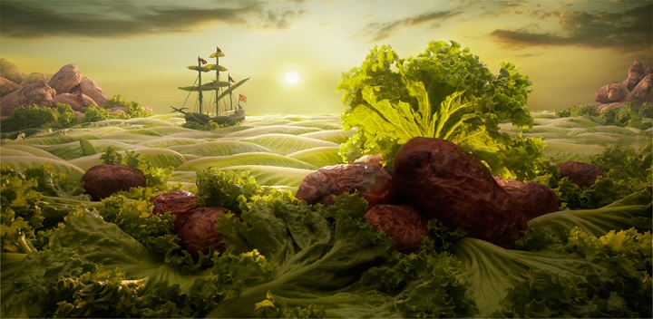 Carl Warner - lettuce seascape