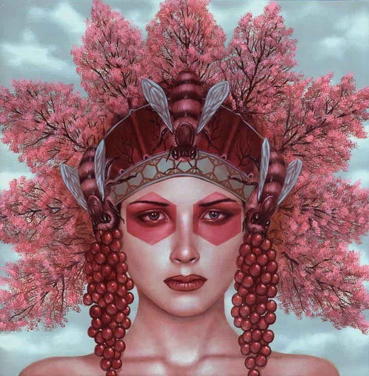 Casey Weldon - bee headdress