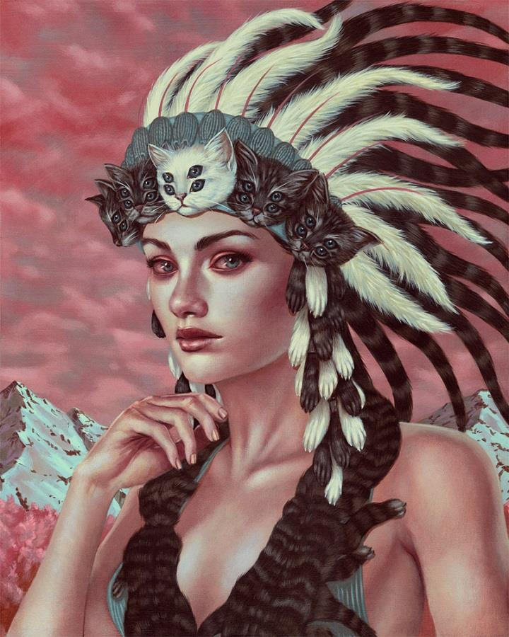 Casey Weldon - cat headdress