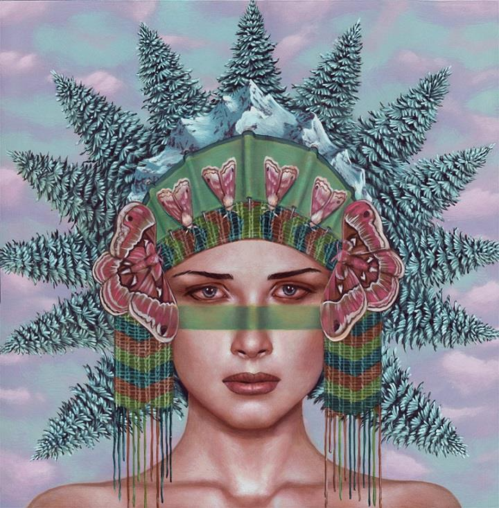 Casey Weldon - trees and butterflies