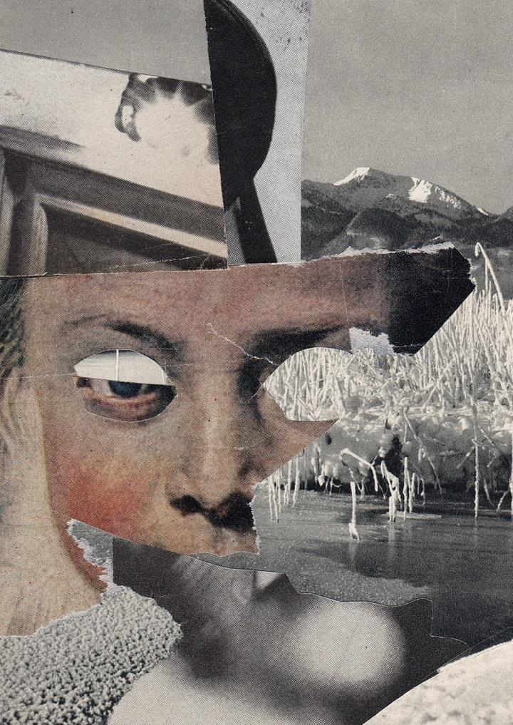 Charles Wilkin - collage face
