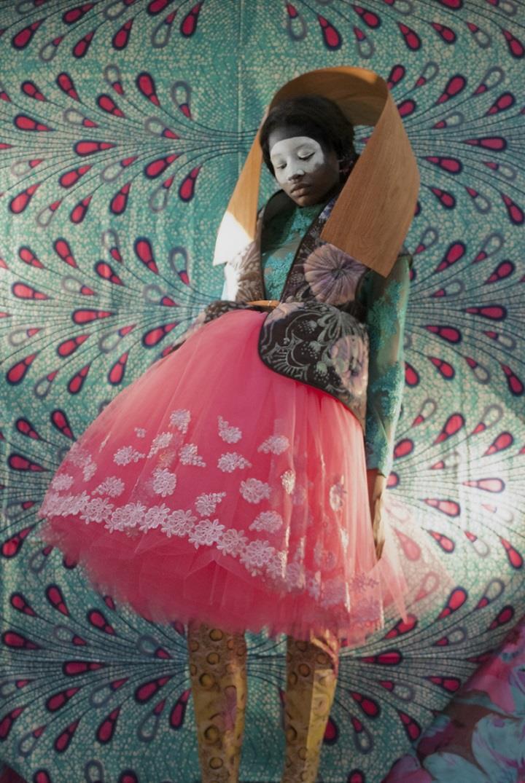 Christa van der Meer - iminjunju pink dress