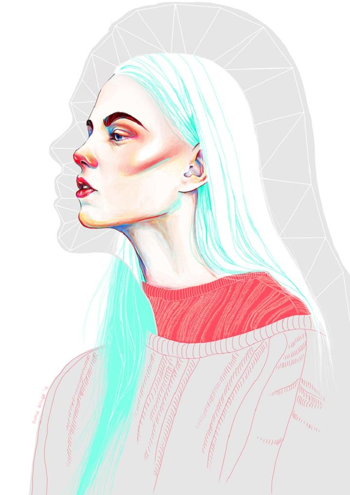 Daria Golab - digital art portrait