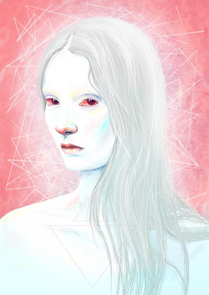 Daria Golab - pale with red eyes