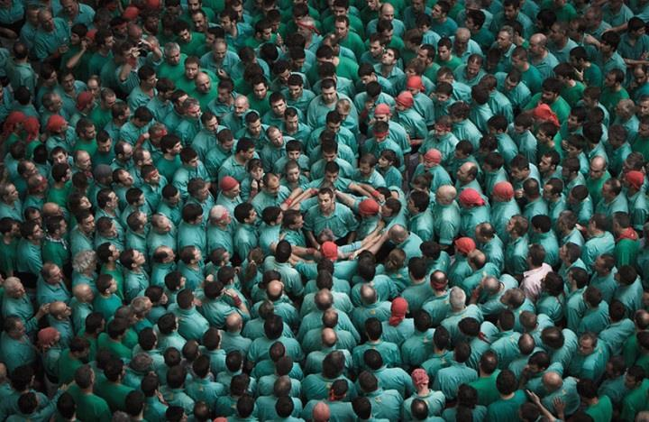 David Oliete - A human tower