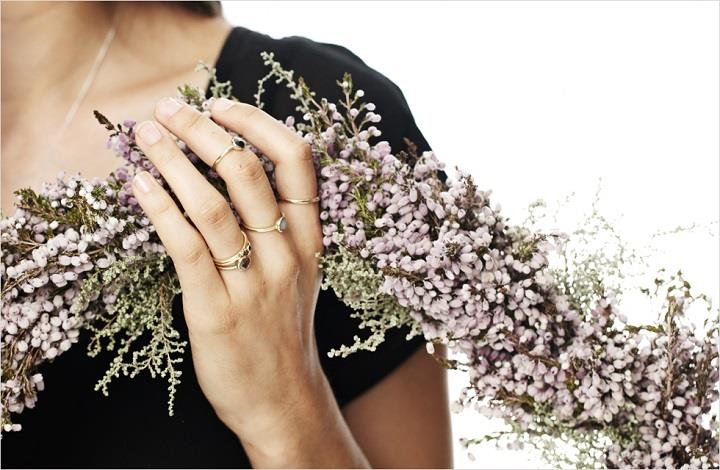 Dear Rae Jewellery - rings and flowers