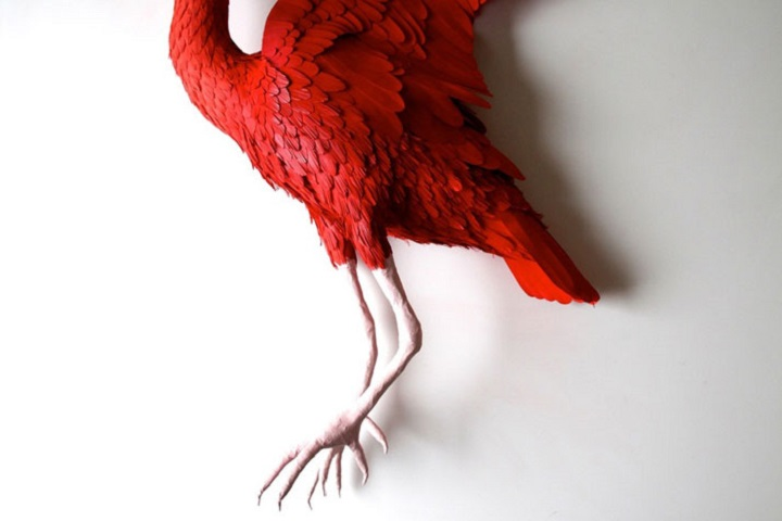 Diana Beltran Herrera - red bird paper sculpture