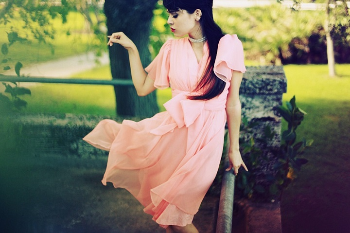 Diana Santisteban - pink dress