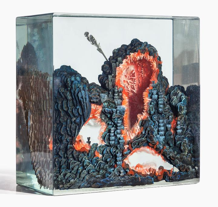 Dustin Yellin a-fig-for-a-seal-of-fire