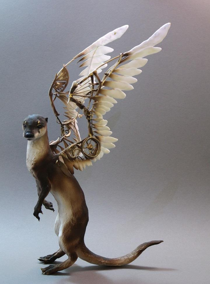 Ellen Jewett - otter with mechanical wings