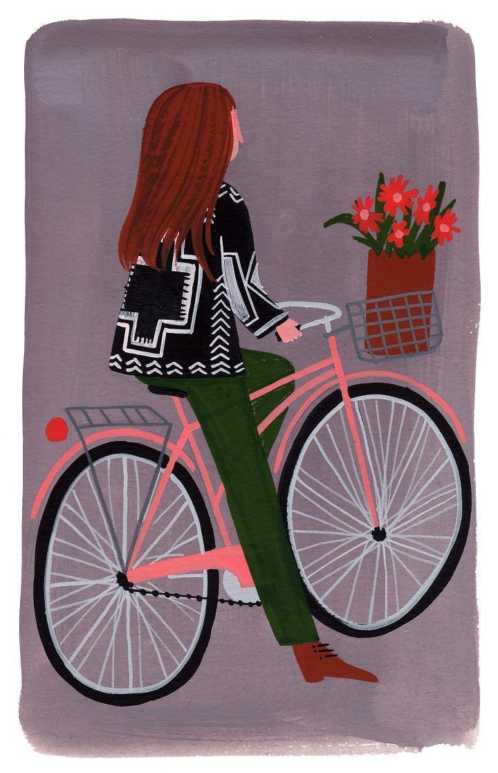 Ellen Surrey - girl on bicycle
