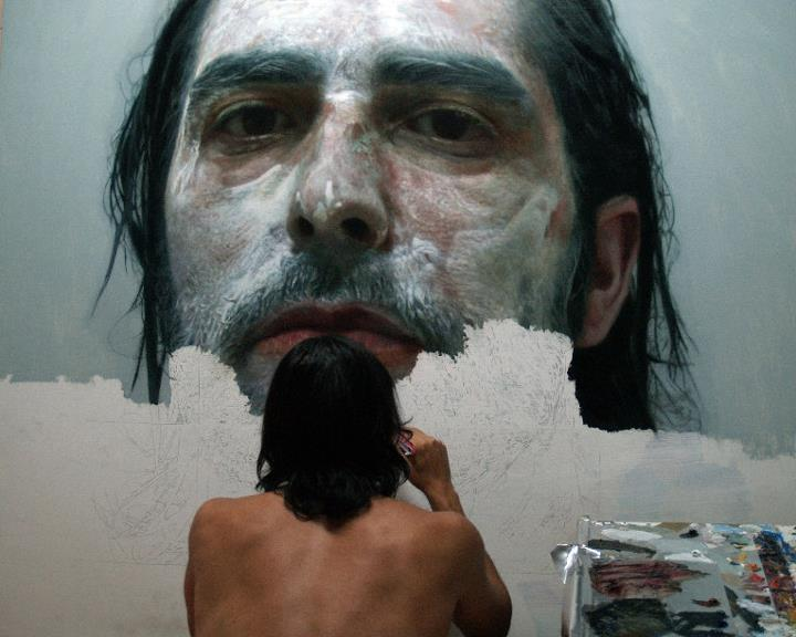 Eloy Morales - painting process