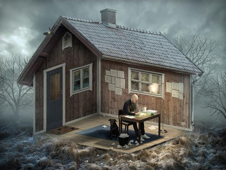 Erik Johansson - House illusion
