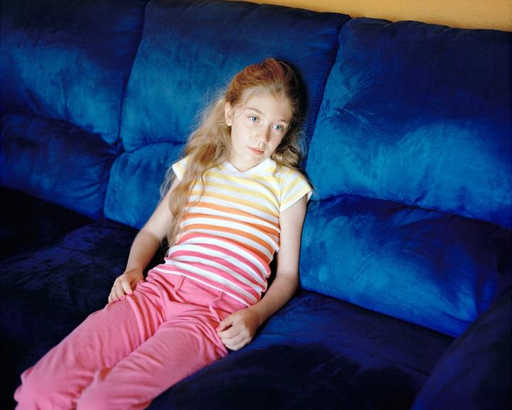 Eva O'Leary - blue sofa