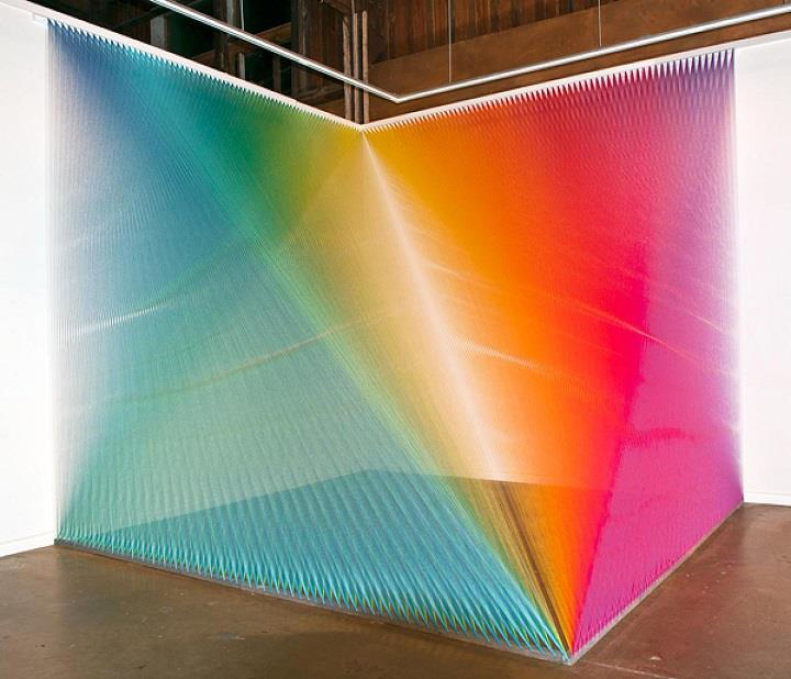 Gabriel Dawe - colorful installation