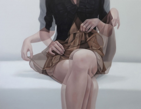 Ho Ryon Lee - sitting woman