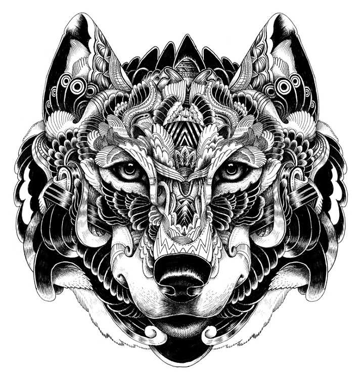 cool-wolf-head-designs