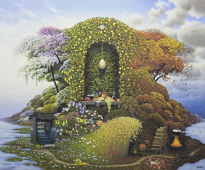 Jacek Yerka - three_seasons