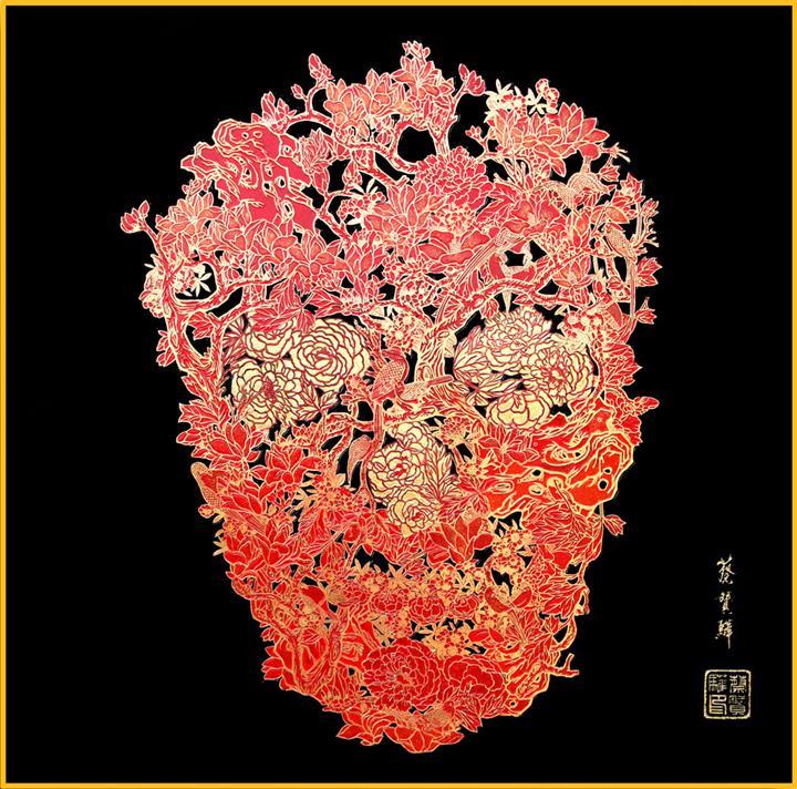 Jacky Tsai - lacquer-skull