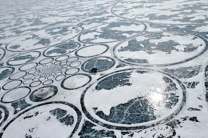 Jim Denevan - Ice art