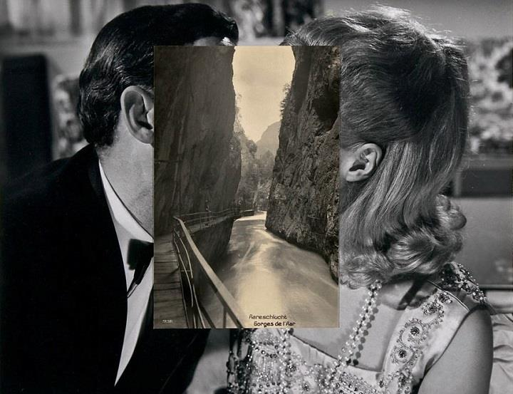 John Stezaker - a kiss collage