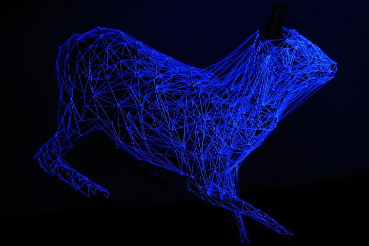 Julien Salaud - installation art blue