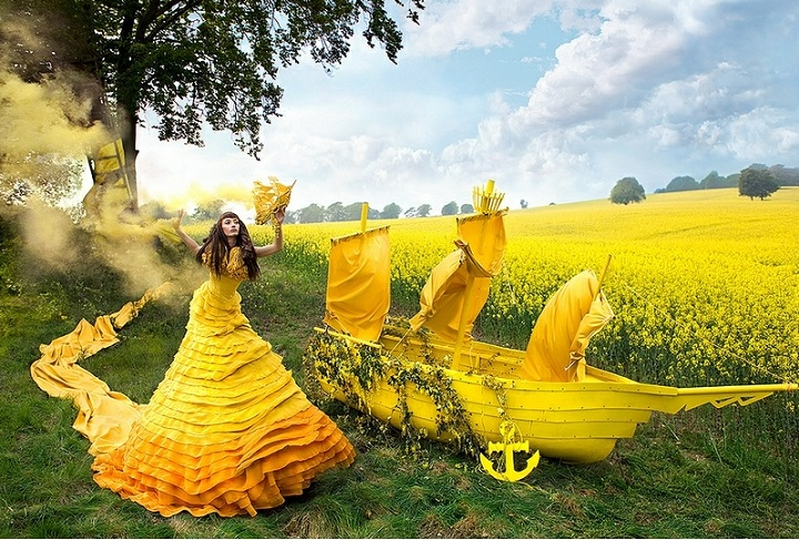 Kirsty Mitchell - a yellow boat
