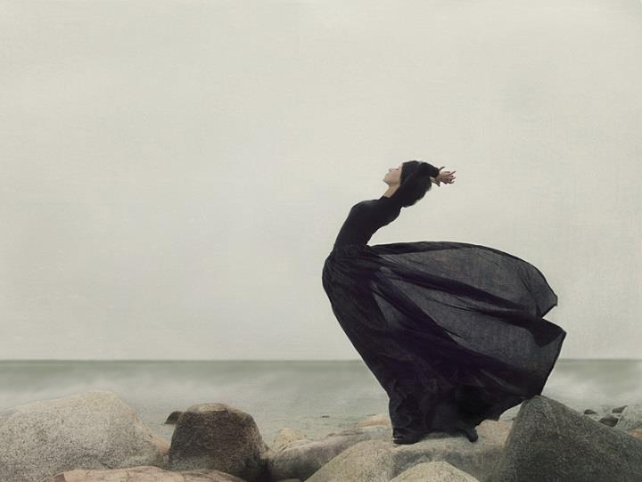Kylli Sparre - black dress