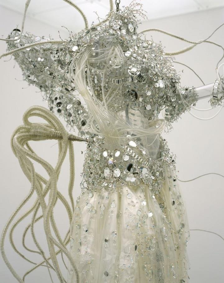Lee Bul - chandelier white