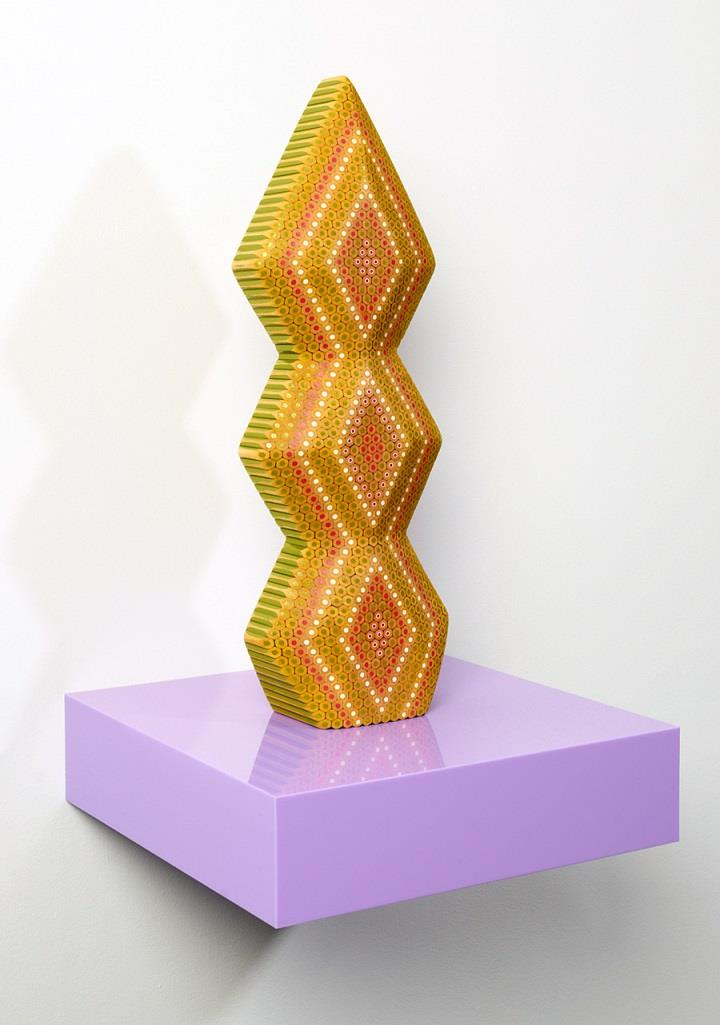 Lionel Bawden - geometric pencil sculpture