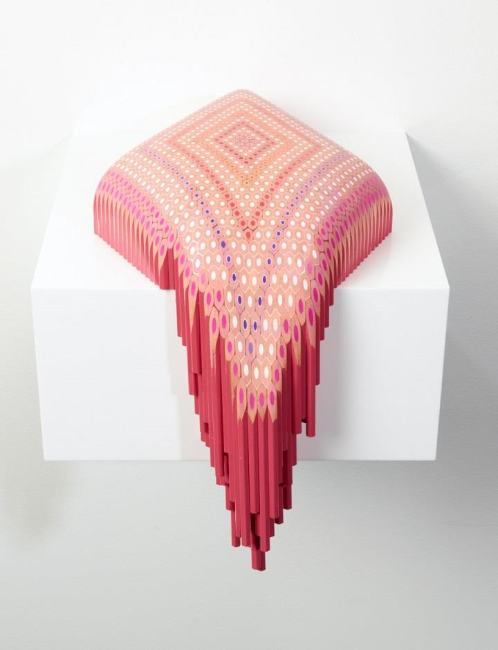 Lionel Bawden - pink pencils sculpture