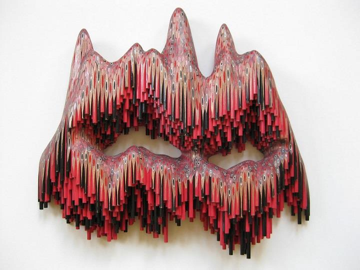 Lionel Bawden - sculpture made with pencils