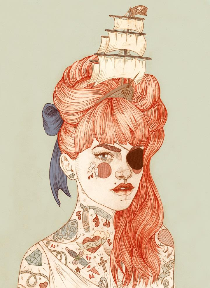 Liz Clements - girl illustration