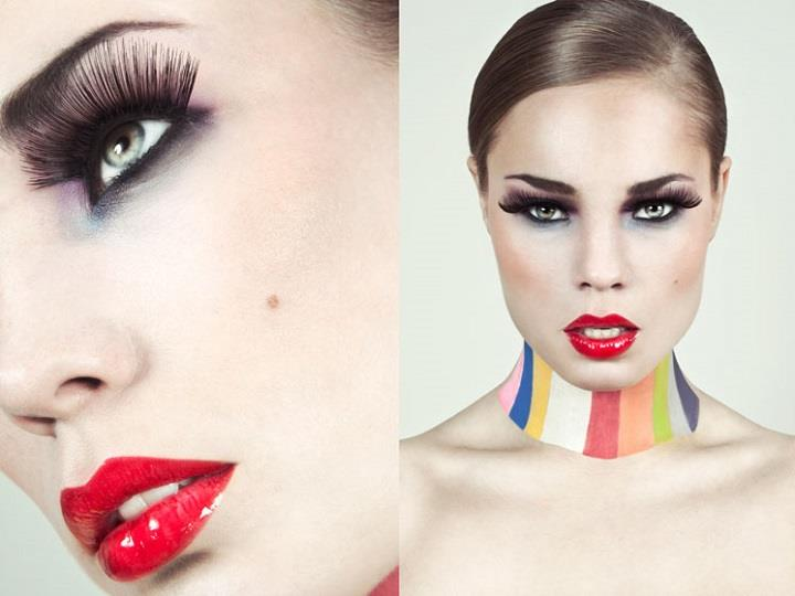 Lucie Eleanor - makeup red lips