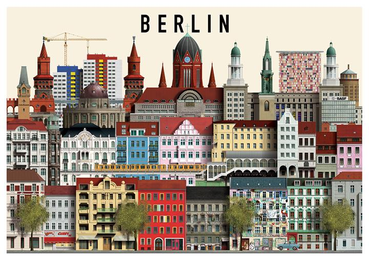 berlin map posters