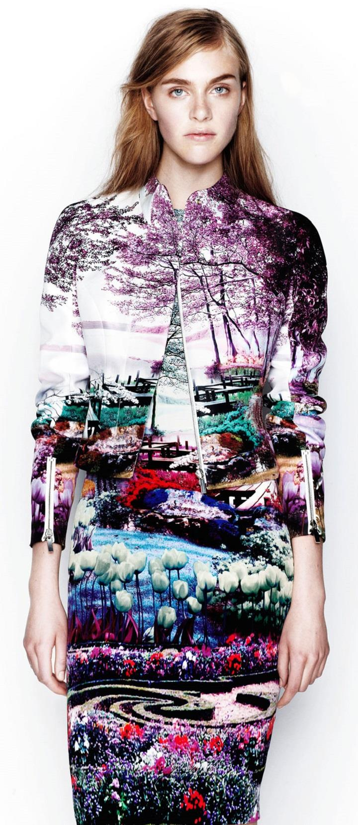 Mary Katrantzou - landscape fashion