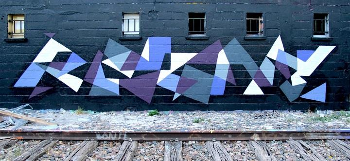 Matt W. Moore - graffiti blue