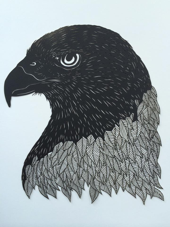 Paper Carvings By Maude White Feather Of Me - Intricate hand cut paper art maude white
