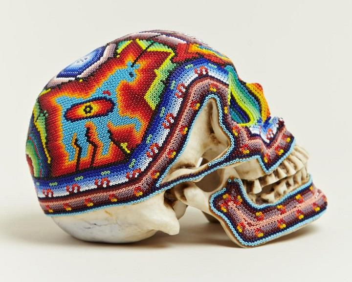 Our Exquisite Corpse - profile beaded skull