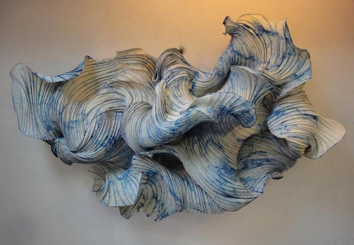 Peter Gentenaar - blue paper art