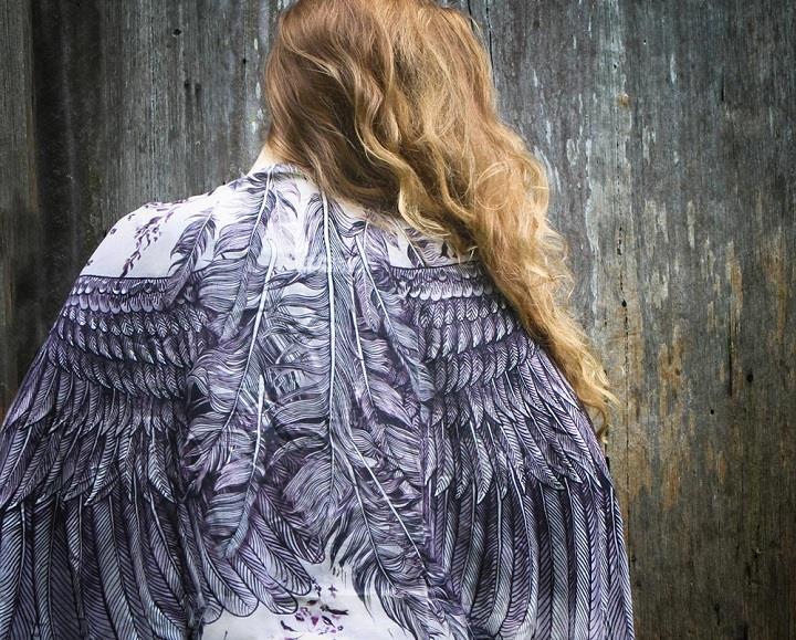 Shovava - Roza Khamitova - purple scarf