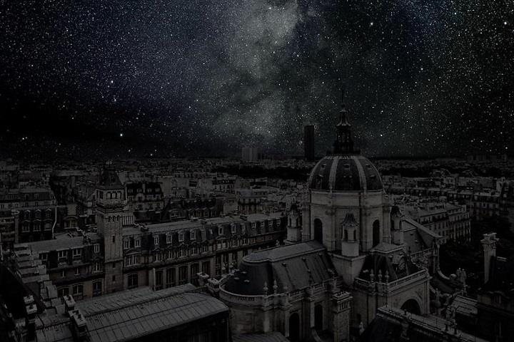 Thierry Cohen - darkened Paris